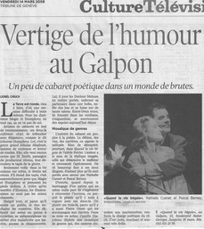 La Tribune  de Genève-14.03.2008.