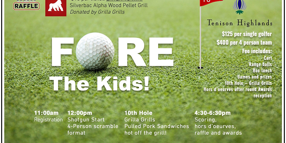 FORE the Kids! Golf Registration