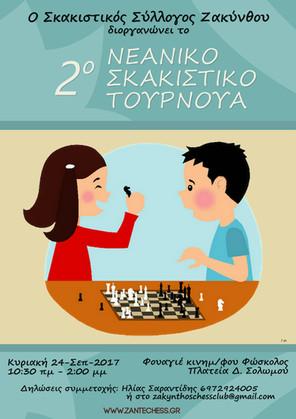 2o Νεανικό Σκακιστικό Τουρνουά