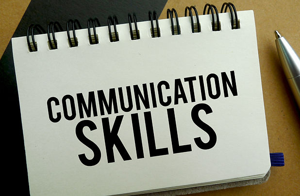 Communication skills memo written on a n