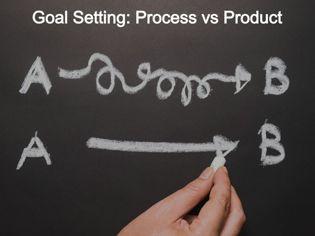Goal Setting: Focus on the Process not the Product