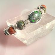 Andamooka Opal, Dragonblood Jasper, Red Creek Jasper, African Turquoise, Golden Sheen Obsidian, Jet
