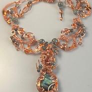 Copper with Natural Sunstone, Rough Labradorite