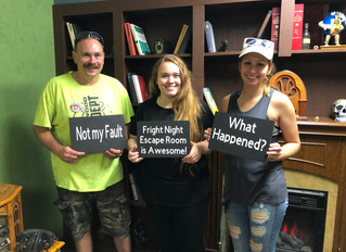 These 3 attempted to escape from Fright Nights Escape Room.