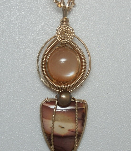Peach Moonstone, Pearl, Mookite