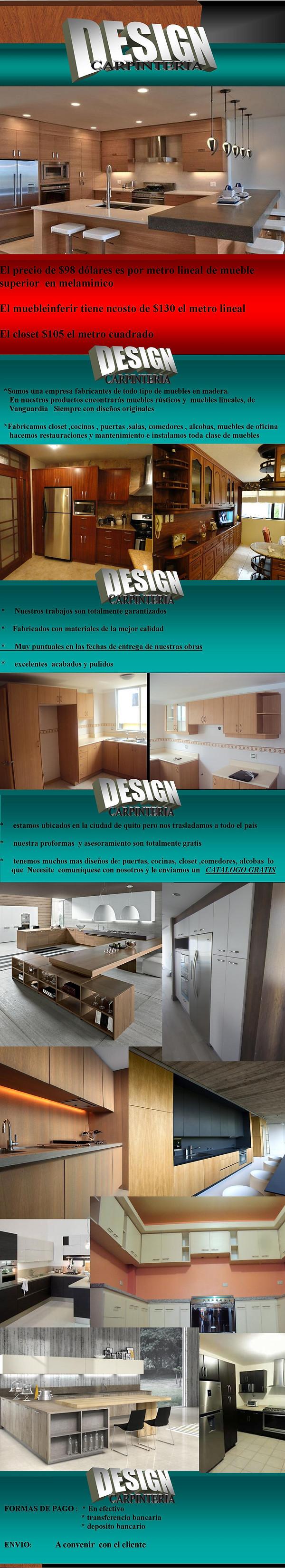 muebles de cocina closet y puertas y todo lo que deses para tu hogar