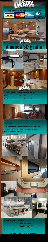 muebles modulares de cocina en melaminoco y madera puertas closet