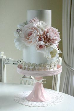 Floral vintage cake