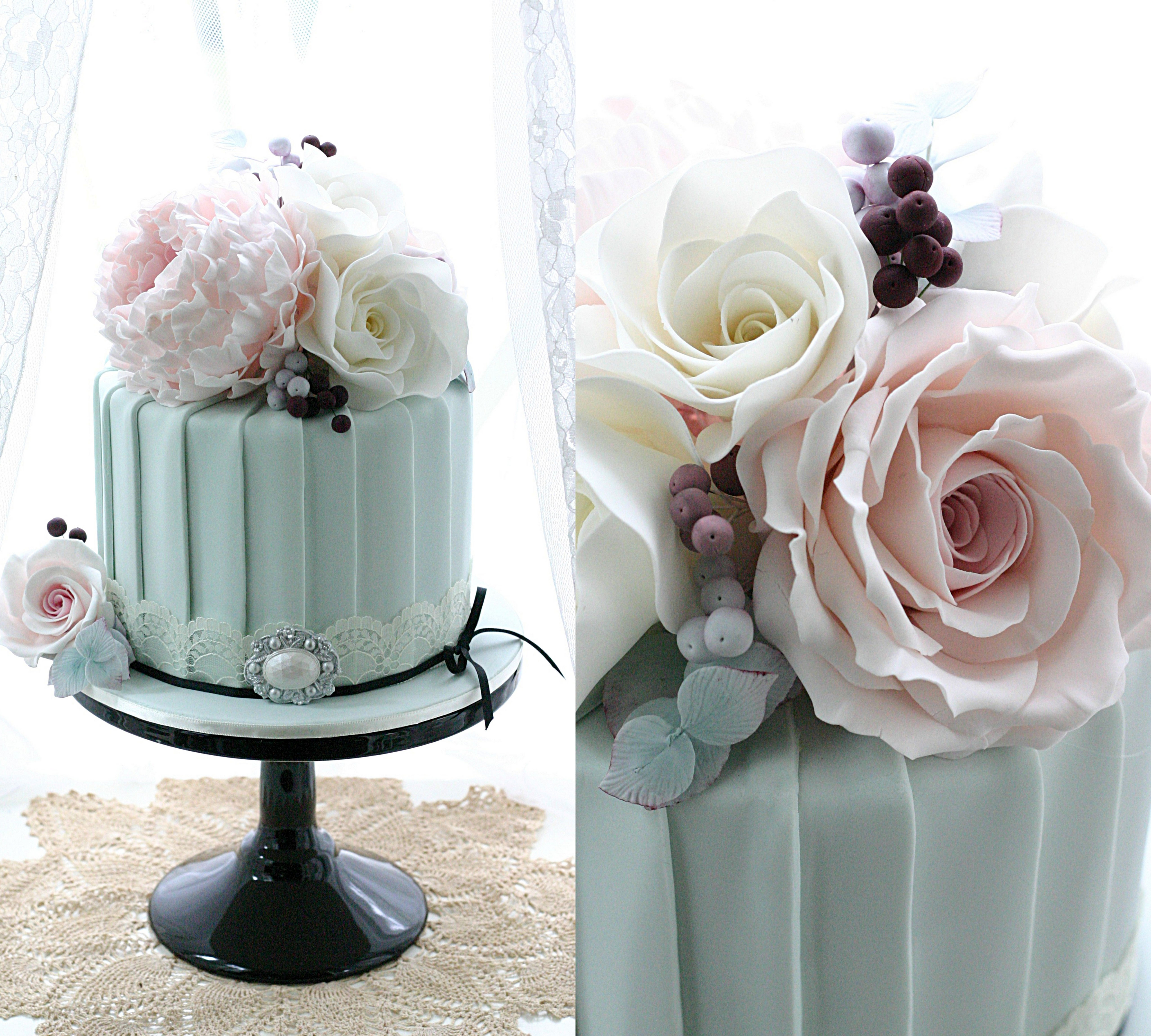 Pleats wedding cake