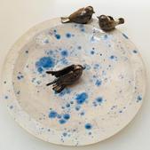 Bird bath sculpture
