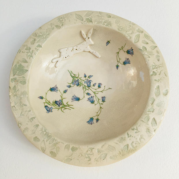 Hare and harebell bowl