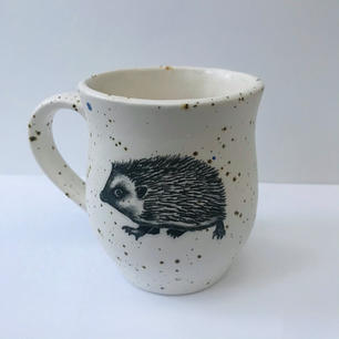Hedgehog illustration mug