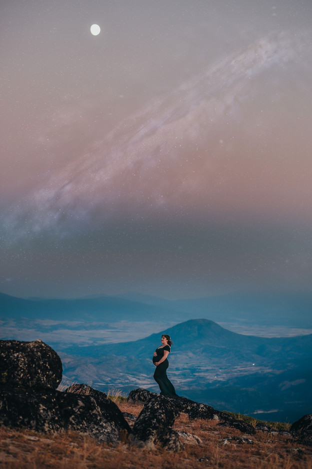 Mountain Top Maternity Session