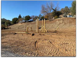 Posts are set for a solid foundation.