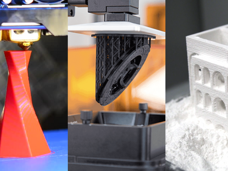 As tecnologias de impressão 3D mais utilizadas: FFF, SLA e SLS