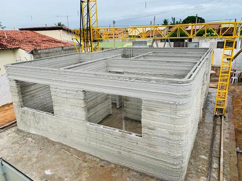 Brasil constrói sua primeira casa modelo impressa em 3D!