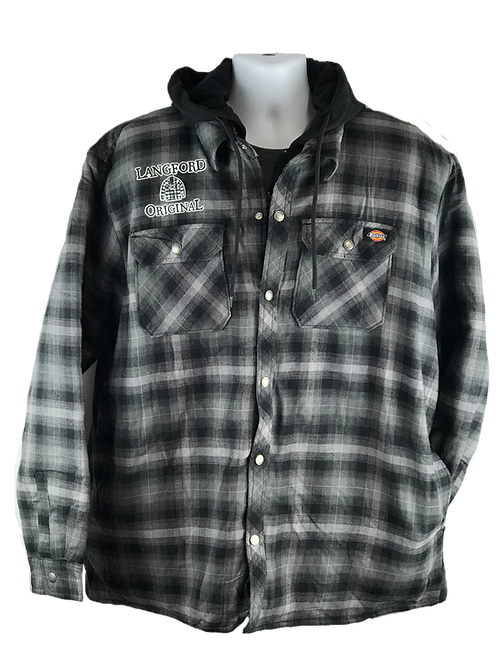 LO Fleece Hooded Flannel Jacket
