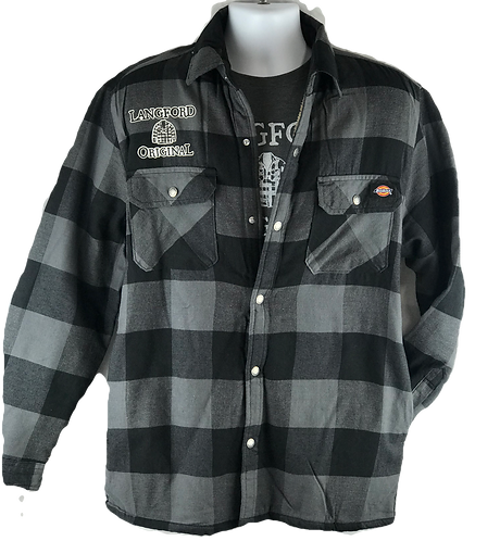 LO Sherpa Lined Flannel Shirt Jacket