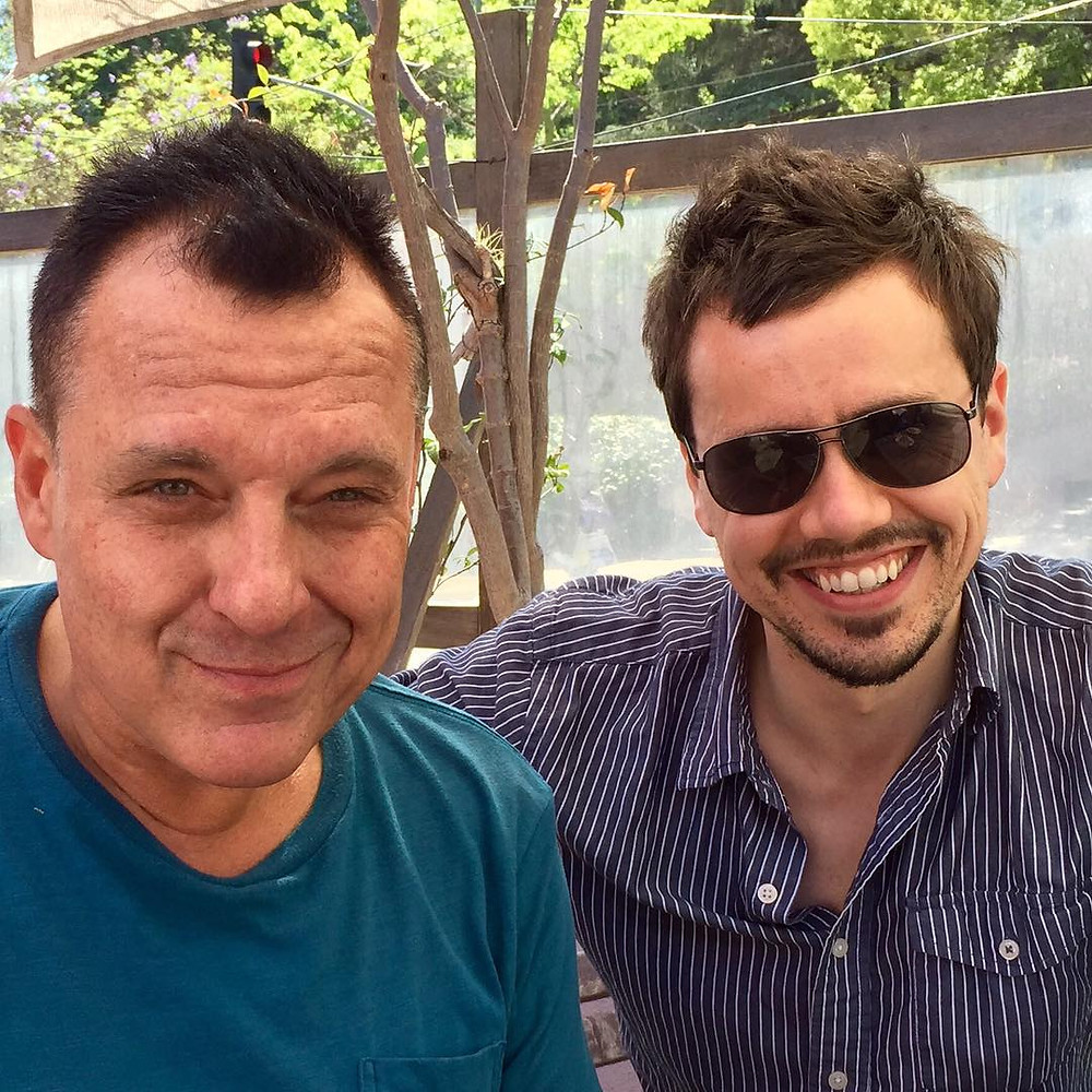 Writer/Direcor Erik Peter Carlson and Tom Sizemore.