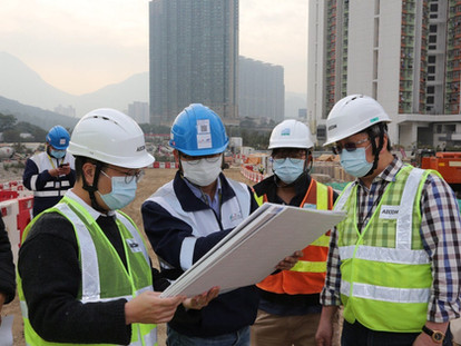 到地盤視察填海工地情況 Site inspection of the latest situation of the Tung Chung East Reclamation Project