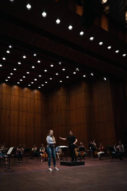 Rehearsal for Musikalische Akademie.