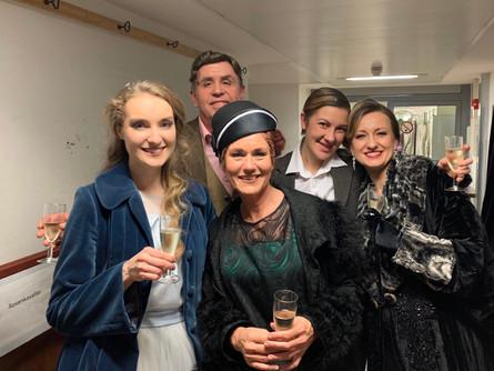 Backstage after a performance of »Der Rosenkavalier« with Franz Hawlata, Emma Sventelius and Martina Welschenbach.