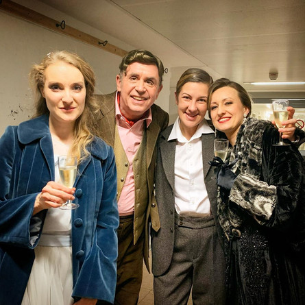 Backstage after a performance of »Der Rosenkavalier« with Franz Hawlata, Emma Sventelius and Martina Welschenbach.