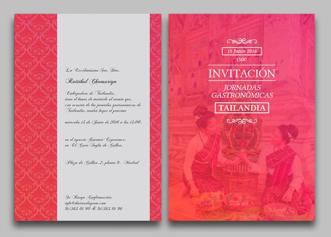 Invitación de la Embajadora de Tailandia en Madrid