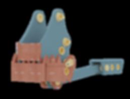 Бетонолом механический (крашер) для экскаватора