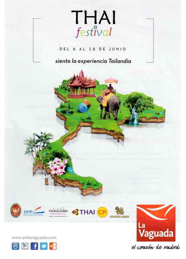 Folleto Thai Festival en La Vaguada
