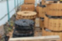Гусеничная цепь на складе