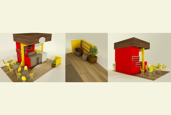 Diseño de Isla para Centro Comercial