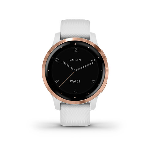 Garmin Vivoactive 4S, wit met rose gold hardware
