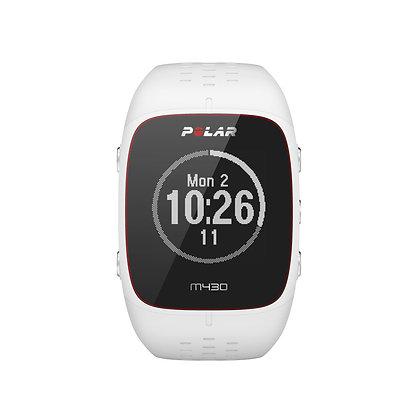 Polar M430 GPS horloge (wit) met hartslagmeting op de pols