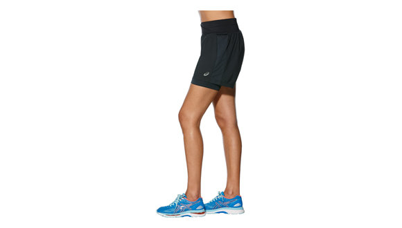 Asics 2 in 1 short 5,5inch (Dames)