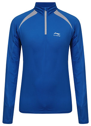Li-Ning Zip Shirt Long Sleeves (Heren)
