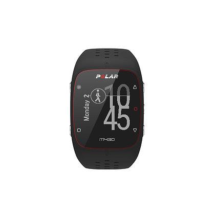 Polar M430 GPS horloge (zwart) met hartslagmeting op de pols