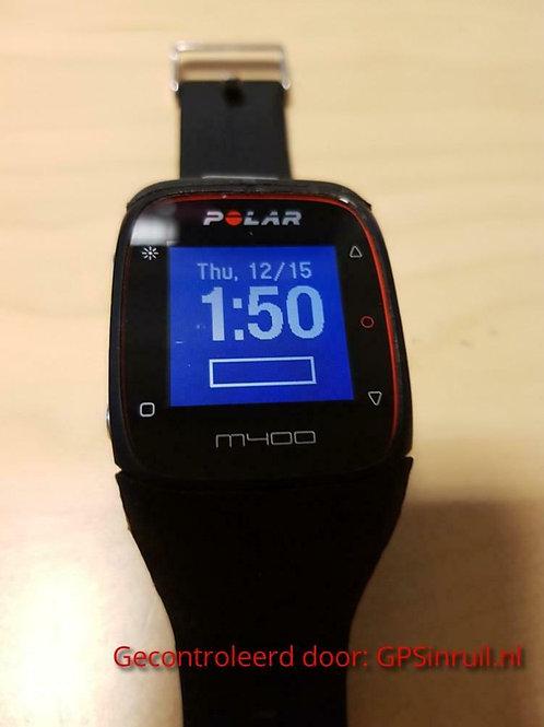 inruil - Polar M400 zwart met nieuw bandje (GPSinruil nr 30)