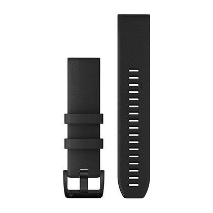 Garmin 22 Quickfit Siliconen Horlogeband Zwart met zwarte roestvrijstalen gesp