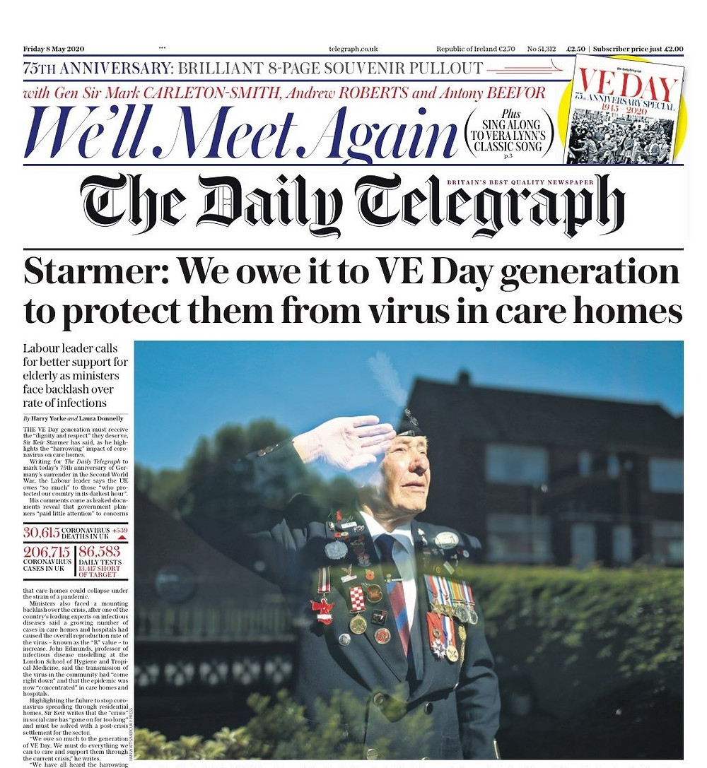 Kier Starmer's Daily Telegraph Front Page