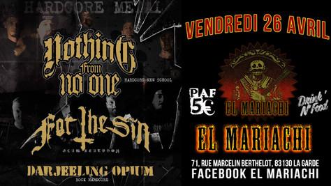 26/04/19 - Live, Darjeeling Opium (Fatcat records) au El Mariachi, La Garde(83).