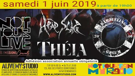 01/06/19 - Live, Darjeeling Opium (Fatcat records) au Notyourlive, Vendargues(34).