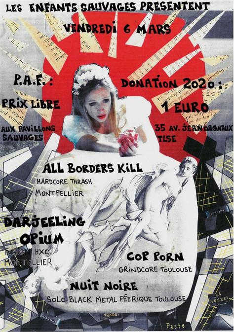 06/03/20 - Live, Darjeeling Opium (Fatcat records) aux Pavillons Sauvages, Toulouse(31).