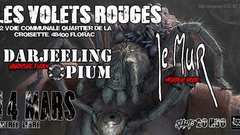 14/03/20 - Live, Darjeeling Opium (Fatcat records) à Les Volets Rouges, Florac(48).