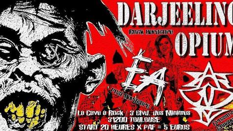 07/11/19 - Live, Darjeeling Opium (Fatcat records) à La Cave à Rock, Toulouse(31).