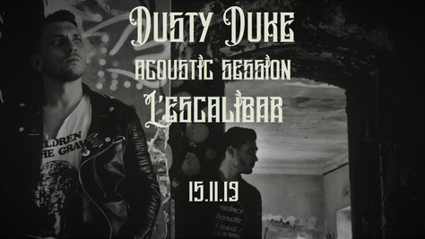 """15/11/19 Live Dusty Duke (Fatcat records) """"Acoustic Session"""" à L'Escalibar, Perpignan("""