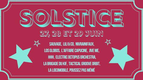 29/06/19 - Live, Electric Octopus Orchestra (Fatcat records), Solstice ~ 31ème édition à Beaulieu-lè