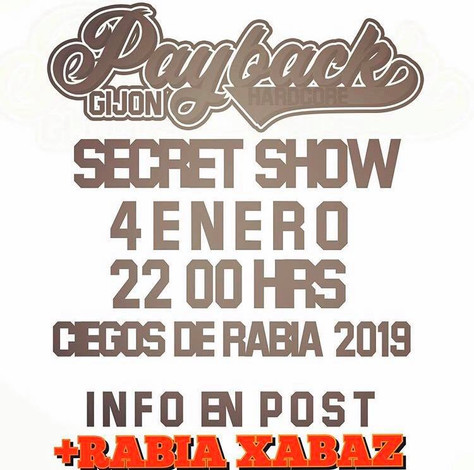 04/01/20 - Live, Rabia Xabaz (Fatcat records) - Secret Show, Gijón, Spain.