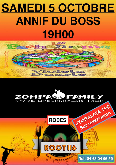 05/10/19 Live Zompa Family (Fatcat records), au Root 116,  Rodès(66).
