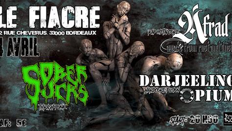 04/04/20 - Live, Darjeeling Opium (Fatcat records) au Fiacre, Bordeaux (33).